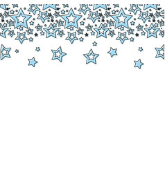 Blue stars christmas decoration backgroud vector