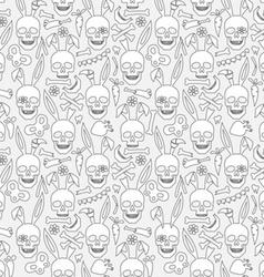 Bunny skull wallpaper vector