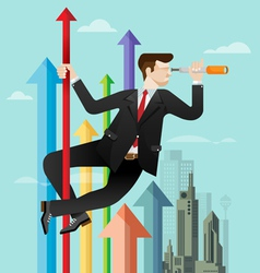 Business vision concept vector image