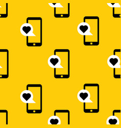 cellphone with love message pattern vector image