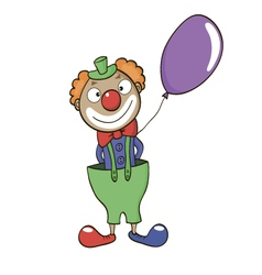 Clown with balloon vector image