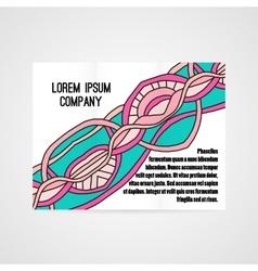 Design of brochure company vector image vector image