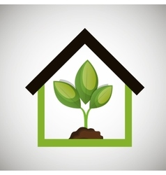 ecological house plant icon design vector image vector image