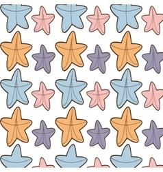Ed starfish beach seamless pattern design vector