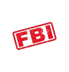 Fbi text rubber stamp vector