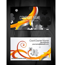 floral style business card design vector image vector image