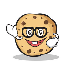 Geek sweet cookies character cartoon vector