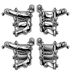 Graphic black and white tattoo machine set vol 6 vector