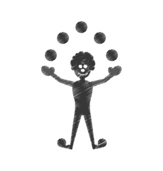 Party clown icon image vector