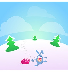 Present Card for Christmas vector image