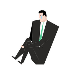 sad businessman sorrowful boss crying guy sadness vector image vector image