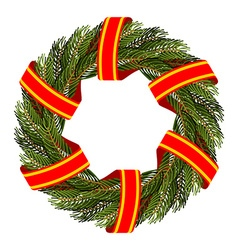 Traditional green wreath for Christmas Christmas vector image vector image