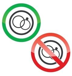 Wedding permission signs vector