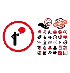 Person idea flat icon with bonus vector