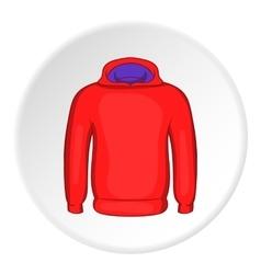 Men winter sweatshirt icon cartoon style vector