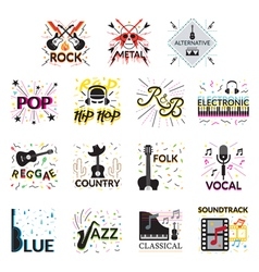 Music genres vector