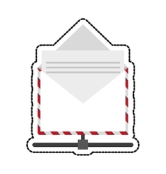 Isolated email envelope design vector