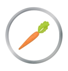 Carrot icon cartoon singe vegetables icon from vector