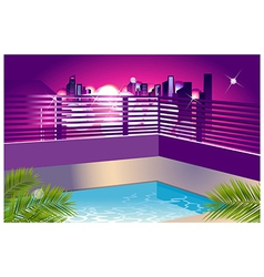 Cityscape outside window vector