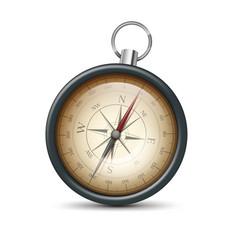 Retro metal compass vector
