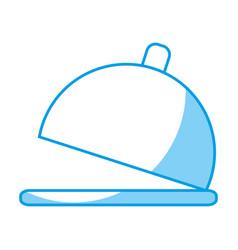 restaurant platter icon vector image