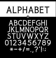 Black strict serif font vector