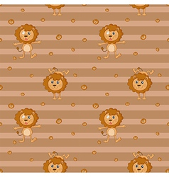A seamless design with lions vector image
