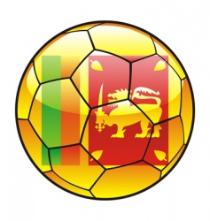 Sri Lanka flag on soccer ball vector image