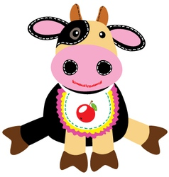 cow toy vector image