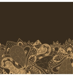 Border with decorative elements vector