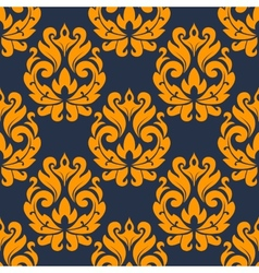 Seamless damask foliage tracery vector