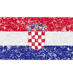 Flag of croatia with old texture vector