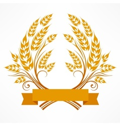 Stylized wheat wreath vector