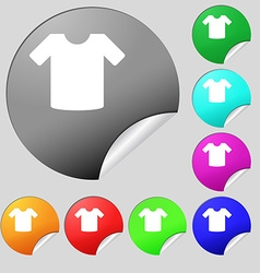 T-shirt clothes icon sign set of eight vector