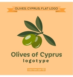 Olives of cyprus logo vector