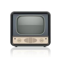 Vintage retro tv set icon vector