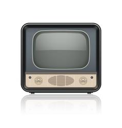 Vintage retro tv set icon vector image