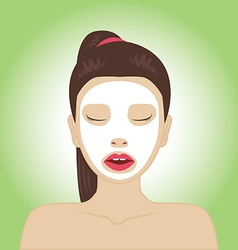 Beautiful woman with facial mask vector