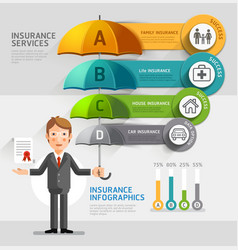 Business insurance services conceptual Business ma vector image