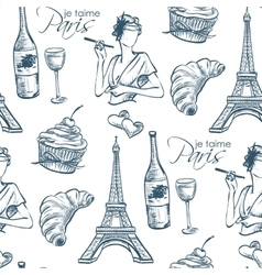 Pattern je taime paris vector