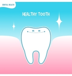 Cartoon healthy tooth icon vector