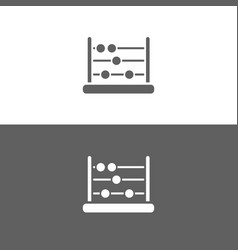 Abacus icon on dark and white background vector