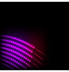 Abstract background colorful lights on black vector image