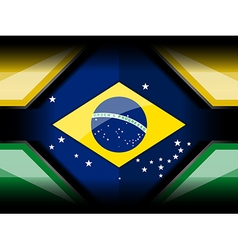 Abstract brazil flag color backgrounds vector