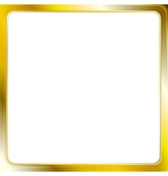 Abstract metallic golden frame vector