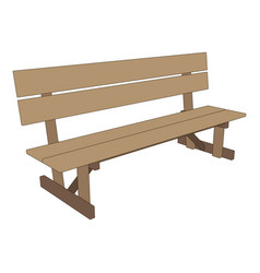 bench park retro white background isolated seat vector image vector image