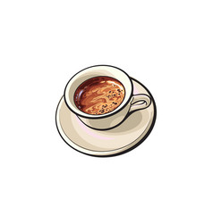 black americano espresso turkish coffee drink vector image