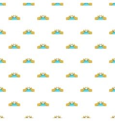 Bridge and river pattern cartoon style vector