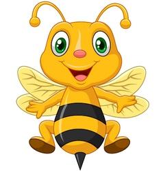 Cartoon adorable bee vector image vector image