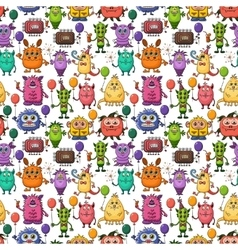 Cartoon Monsters Seamless vector image vector image